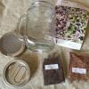 おしゃれな「グラスジャー・スプラウト栽培セット」種と容器のキット